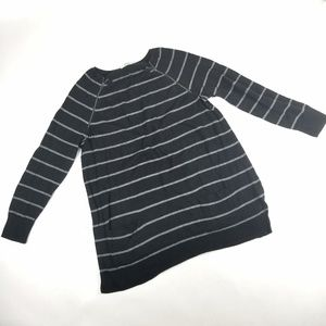 Womens Caslon Black Striped Sweater Top Size XL